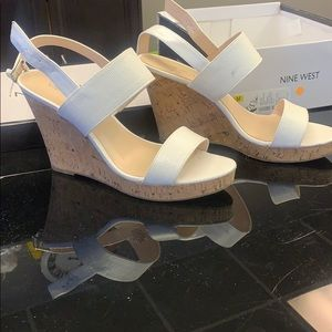 Nine West Lucini white with box size 10